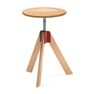 Giotto Adjustable Stool Natural Beech