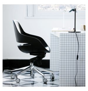 Eva Office Chair Pelle Nappa Leather