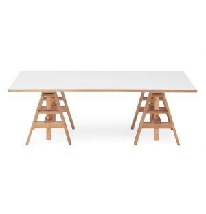 Leonardo Writing Desk Beech & White Laminate