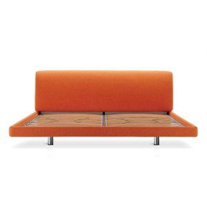 Greg Bed Orange Tecla Fabric King Size