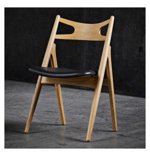 CH29 Sawbuck Chair Oiled Oak & Leather