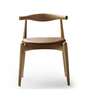 CH20 Elbow Chair Oiled Oak & Sif Leather