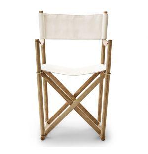 MK99200 Folding Chair White Canvas