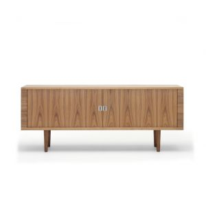 CH825 Credenza Storage Unit Danish Oiled Walnut & Oak Interior
