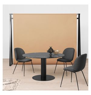 Gubi 2.0 Dining Table Black & Marble Medium