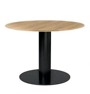Gubi 2.0 Dining Table Black & Wood Small