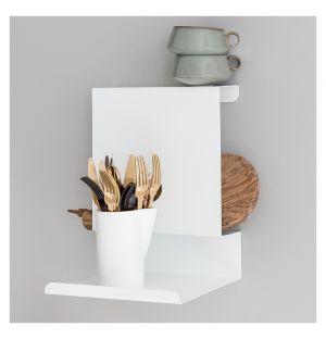 Ledge:Able Wall Shelf White