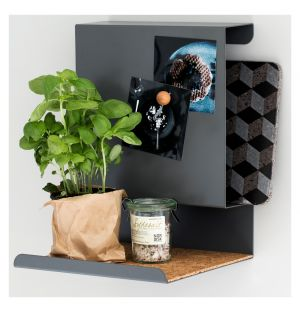 Ledge:Able Wall Shelf Anthracite