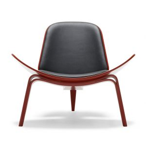 CH07 Shell Chair Beech & Leather