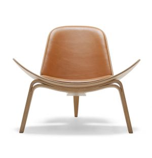 CH07 Chair Oak & Sif Leather