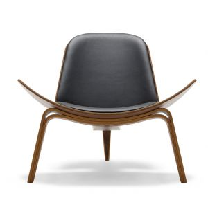 CH07 Shell Chair Oiled Walnut & Loke Leather