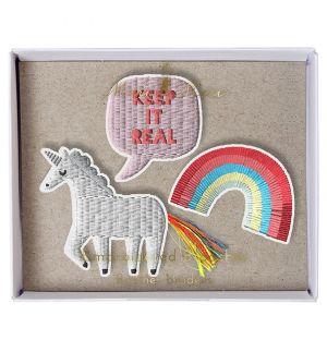 Unicorn Brooch Set Of 3