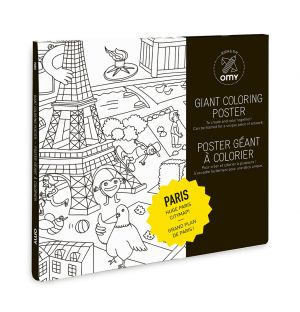 Giant Paris Colouring Poster