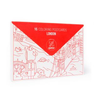London Colouring Postcard Set