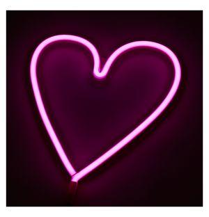 Neon Heart Light Pink