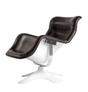 Karuselli Lounge Chair in Prestige Leather