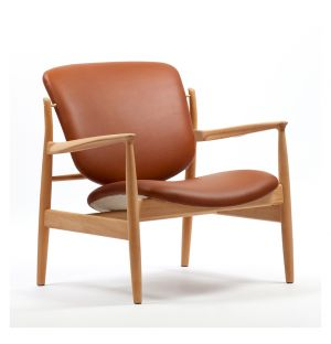 France Chair Oak & Leather