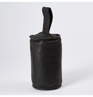 Leather Camou Doorstop Black