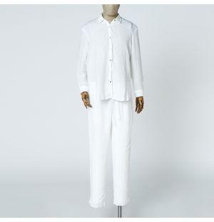 Linen Pyjamas Off White