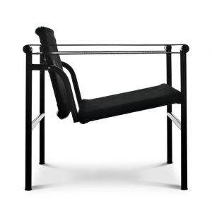 LC1 Armchair Black Hairyskin & Black Steel