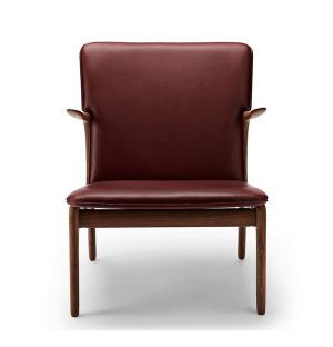 OW124 Beak Chair Oiled Walnut & Sif Leather 95 brown