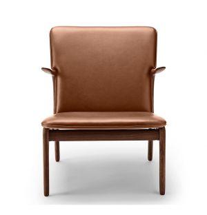 OW124 Beak Chair Oiled Walnut & Thor Leather