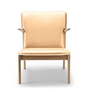 OW124 Beak Chair Oiled Oak & Sif Leather