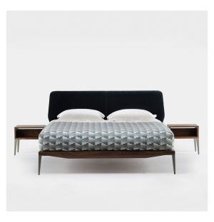 Bretton Bed Walnut & Aluminium King Size