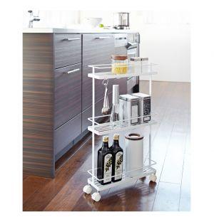 Tower Slim Storage Cart White