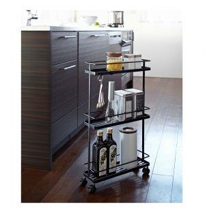 Tower Slim Storage Cart Black