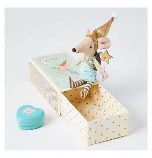 Tooth Fairy Mouse In A Box Blue