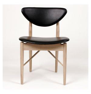108 Chair Oak & Black Leather