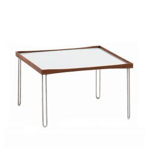 Tray Table Walnut & White