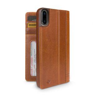 Journal iPhone X Case Cognac Leather