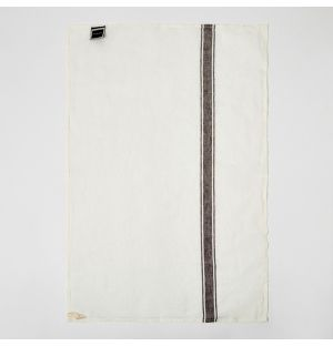 Stripe Linen Tea Towel Granite