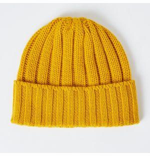 Cashmere Rib Hat Mustard