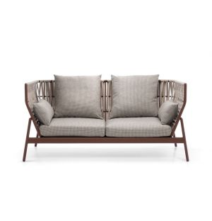 PIPER 102 Sofa High Back Rust & Sand