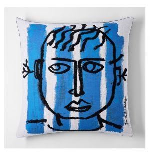 Castelbajac 'Pur De La Feuille' Cushion Cover 45cm x 45cm