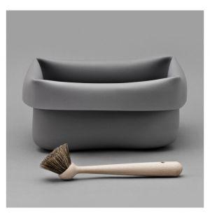 Washing-Up Bowl & Brush Grey