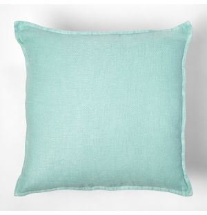 Twill Linen Cushion Cover Celadon 45cm x 45cm