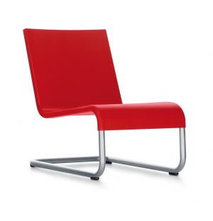 .06 Lounge Chair Red & Stainless Steel