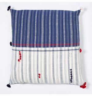 Rebari Multi-Stripe Cushion Cover Square Indigo