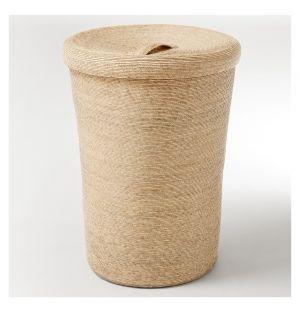 Tall Storage Basket & Lid Natural