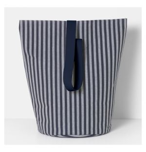 Chambray Striped Basket Large