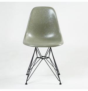 DSR Fiberglass Side Chair Raw Umber & Dark