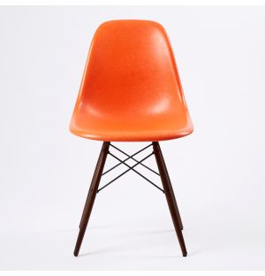 DSW Fiberglass Side Chair Dark Maple