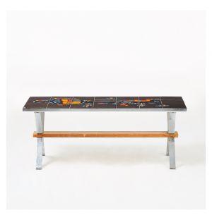 Vintage Tiled Top Coffee Table c.1960