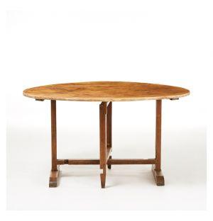 Vintage Vineyard Dining Table Oak c.1900