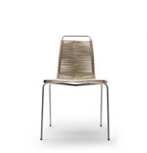 PK1 Dining Chair Chrome Frame