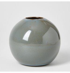 Ball Vase Smoky Blue Medium